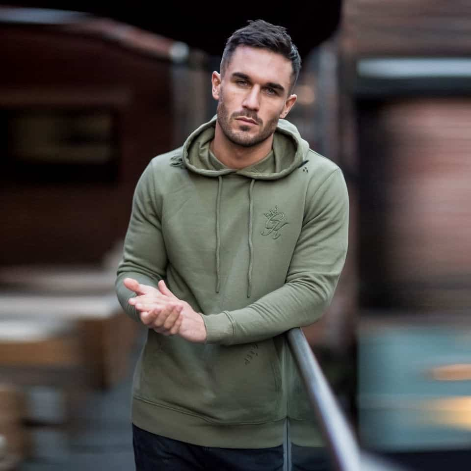 87b0b4e9 Gym King Distressed Pull Over Hoodie – Burnt Olive