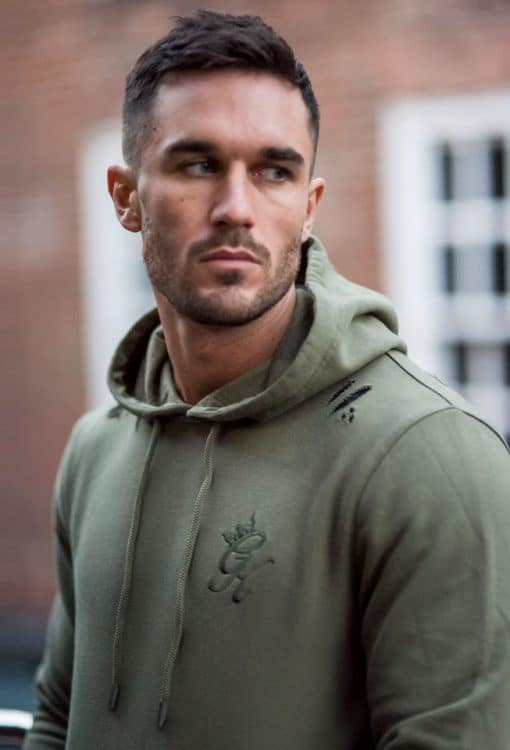 057a71d9 Gym King Distressed Pull Over Hoodie - Burnt Olive
