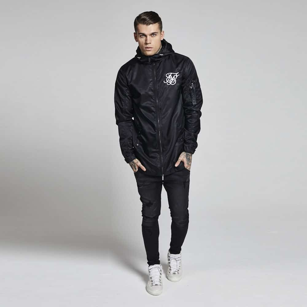 Sik Silk Light Parka Coat - Black | Lost Rockstar