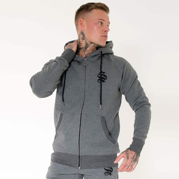 a76071ad2db9 Sinners Attire Tracksuit Standard Fitted Zipped Hoodie – Charcoal Grey