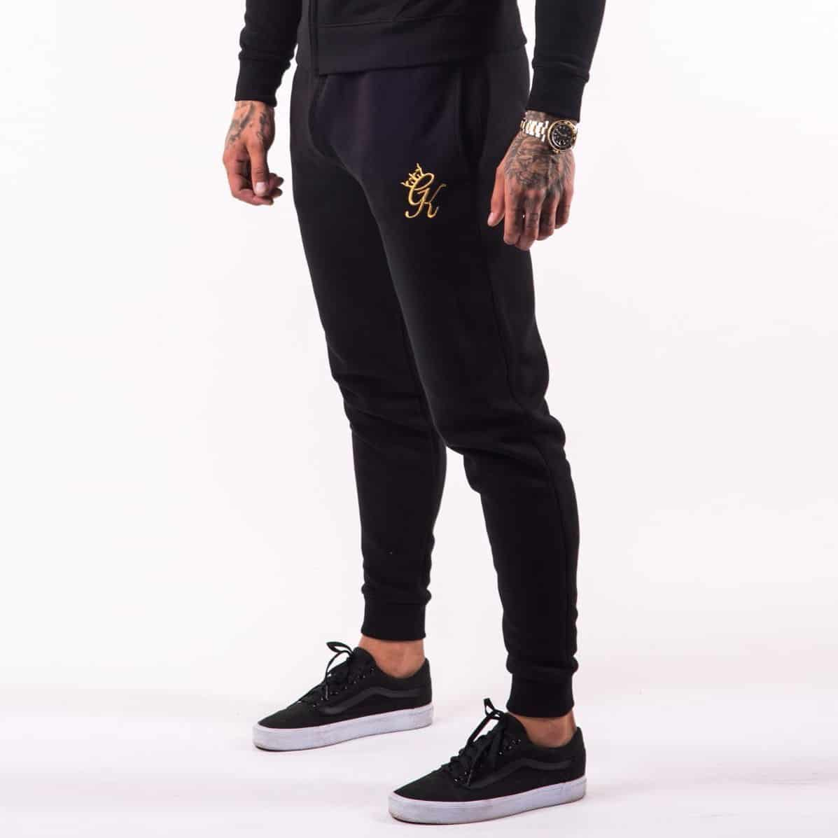 bbc5f04d Gym King Tracksuit Joggers – Black & Gold