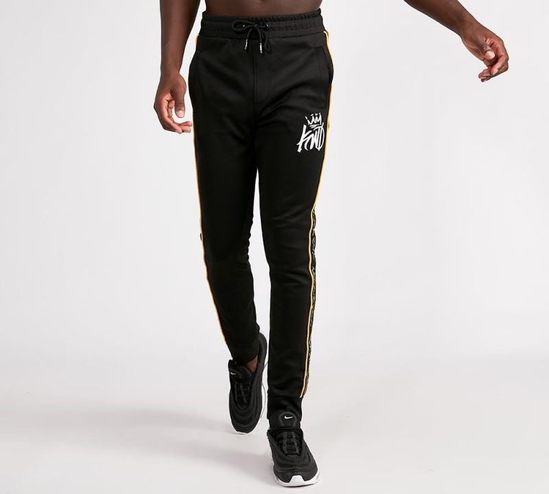 a897b667a5a97 Kings Will Dream Roxberry Tape Poly Joggers in Black & Yellow