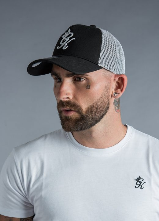 d39fd7c082827 Gym King Mesh Trucker Cap in Black   White