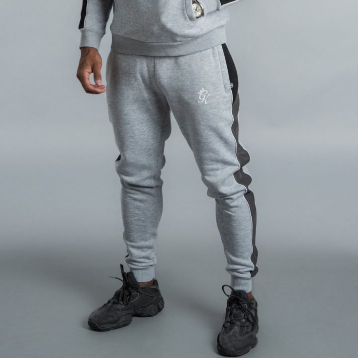 5db83800 Gym King Gotti Tracksuit Joggers in Grey Marl