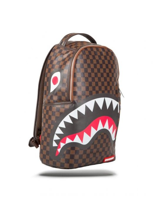 Sprayground Sleek Sharks In Paris Backpack In Brown Lost