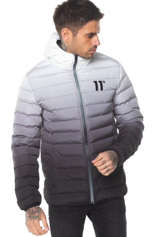 11 Degrees Puffer Jacket In Black With